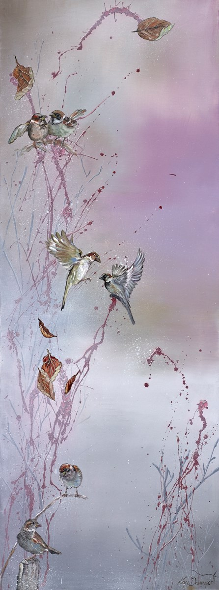 Just a Flutter by kay davenport -  sized 18x48 inches. Available from Whitewall Galleries